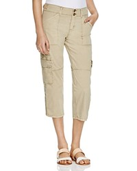 Sanctuary Habitat Roll Cuff Crop Cargo Pants Real Khaki