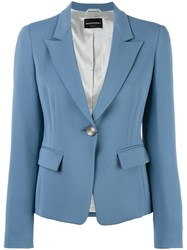 Emporio Armani One Button Blazer Blue