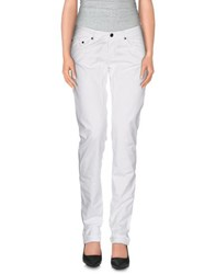 Jaggy Trousers Casual Trousers Women White