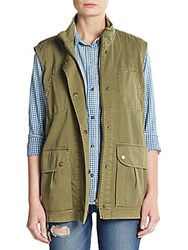 Current Elliott The Leisure Vest Army Green