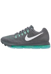 Nike Performance Zoom All Out Neutral Running Shoes Dark Grey White Green Glow Black