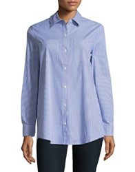 Lord And Taylor Collared Cotton Blend Shirt Dark Cloud