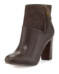 Elliott Lucca Dafne Leather Suede Ankle Boot Mineral Mu