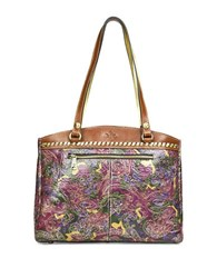 Patricia Nash Poppy Graphic Print Leather Tote