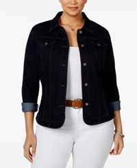Charter Club Plus Size Denim Jacket Only At Macy's Rinse Wash