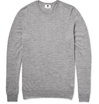 Nn.07 Charles Melange Merino Wool Sweater Gray