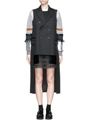 Toga Archives Double Breasted Wool Blend Cutout Sleeveless Coat Black