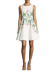 Erin By Erin Fetherston Suzie Floral Print Fit And Flare Dress Ivory Multicolor