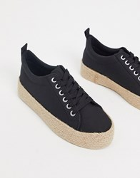 New Look Espadrille Trainers In Black