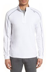 Tasc Performance Carrollton Quarter Zip Sweatshirt White