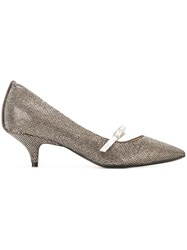 N 21 No21 Kitten Heel Pumps Metallic