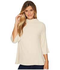 B Collection By Bobeau Mollie Top Oatmeal Women's Long Sleeve Pullover Brown