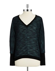 Casual Couture By Green Envelope Batwing Heathered Knit Hunter Green