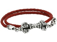 King Baby Studio Double Wrap Leather W Vajra Clasp Bracelet Red Bracelet