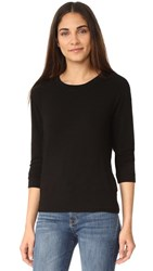 Monrow Crew Neck Sweatshirt Black
