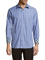 Tailorbyrd Classic Fit Button Down Shirt Turquoise