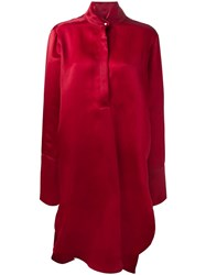 Petar Petrov Oversized Organza Dress Red