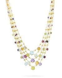 Marco Bicego Paradise Five Strand Mixed Stone Necklace 16.5