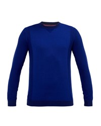 Ted Baker Men's Brainb Textured Crew Neck Top Bright Blue