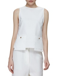 Acne Studios Drop Pocket Sleeveless Tunic White