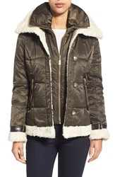 Women's Vince Camuto Faux Shearling Trim Quilted Jacket