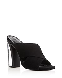 Kendall And Kylie Karmen Lucite High Heel Slide Sandals Black