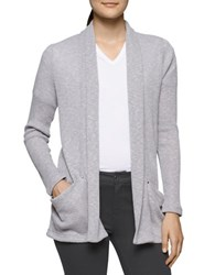 Calvin Klein Jeans Ribbed Open Front Cardigan Light Grey