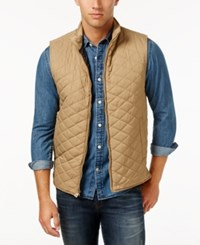 Weatherproof Vintage Men's Big And Tall Quilted Vest Khaki