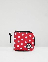 Hype Red Polka Dot Zip Purse Red And White Polka