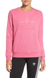 Adidas Women's Originals 'Trefoil' Crewneck Sweatshirt