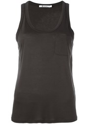 Alexander Wang T By Scoop Neck Tank Top Green