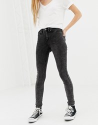 Blend She Moon Play Skinny Jeans Blk Washed Denim Black