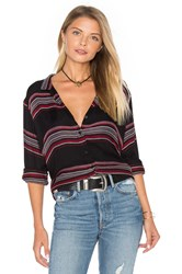 Bella Dahl Tie Front Button Down Black
