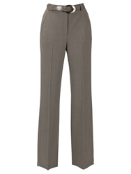 Gardeur City Straight Leg High Rise Trousers Taupe