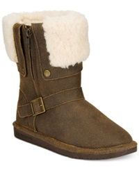 Bearpaw Madison Foldover Cold Weather Booties Women's Shoes