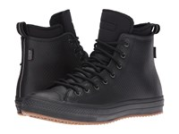 Converse Chuck Taylor All Star Ii Mesh Backed Leather Boot Black Black Black Men's Shoes