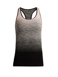 Pepper And Mayne Racer Back Compression Performance Tank Top Black Pink