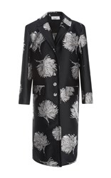 Prabal Gurung Embroidered Tailored Coat Black