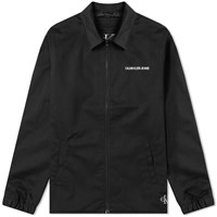 Calvin Klein Institutional Logo Coach Jacket Black