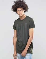 Systvm Cato T Shirt In Khaki Green
