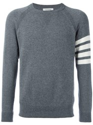 Thom Browne Crew Neck Jumper Grey