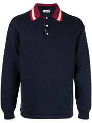Coohem Knitted Polo Shirt Blue