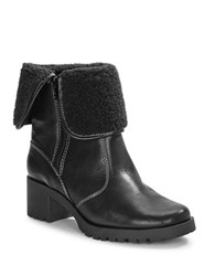 Aerosoles Boldness Faux Shearling Leather Boots Black