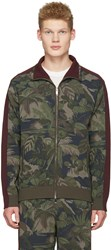 Valentino Green Tropical Camo Zip Jacket