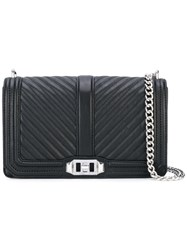 Rebecca Minkoff Chevron Quilted 'Love' Bag Women Leather Polyester One Size Black