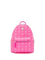 Mcm Classic Logo Backpack Pink