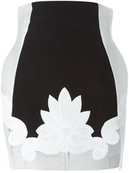 Antonio Berardi Appliqua Panelled Skirt White