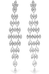 Kenneth Jay Lane Silver And Rhodium Plated Crystal Earrings One Size Gbp