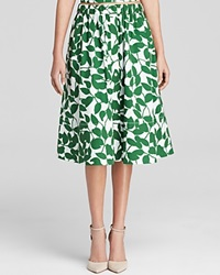 Kate Spade New York Garden Leaves Midi Skirt
