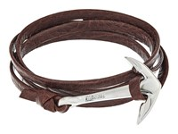 Miansai Silver Anchor On Leather Bracelet Mojave